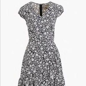 TALL J. Crew Faux-Wrap Mini Dress in Blossom